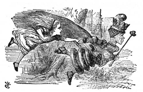 As the Red Queen said to Alice, it takes all the running you can do just to stay in the same place. Illustration by Sir John Tenniel